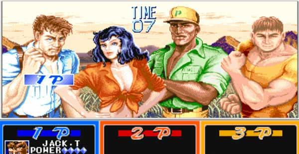 大型游戏机经典游戏-恐龙快打